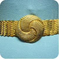 Gold Vintage Belt on Flee Fly Flown