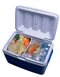 Pack a cooler of healthy snacks for your road trip. Featured on Flee Fly Flown