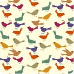 Bird Print from Spoonflower on Flee Fly Flown