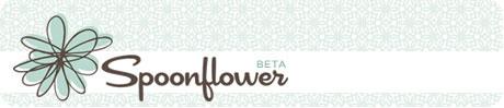 Spoonflower logo on Flee Fly Flown