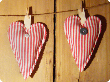 Heart Shaped D.I.Y. Sachet featured on Flee Fly Flown