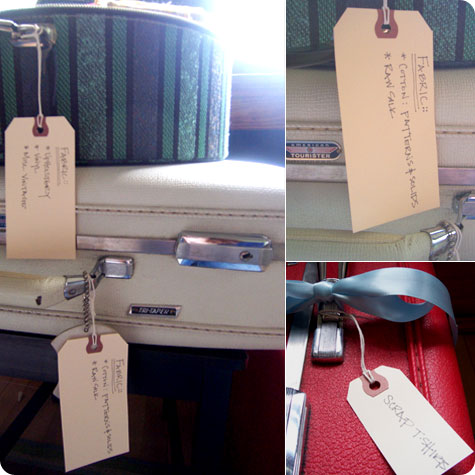 Fabric Storage Labels on Flee Fly Flown