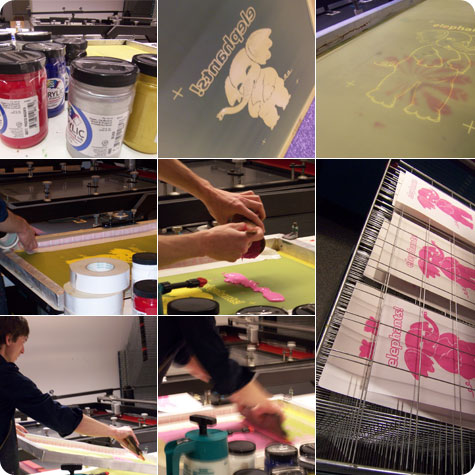 Screen Printing at Discovery World on Flee Fly Flown