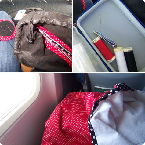 In Transit: Sewing on Flee Fly Flown