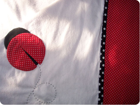 Lady Bug blanket by Colleen McIntyre of Flee Fly Flown