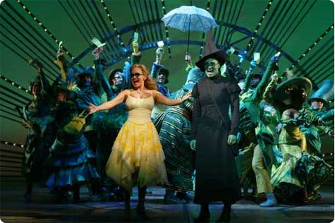 The Emerald City from Wicked a New Musical