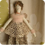 Carolyn Radley's Shaker-style handmade dolls.