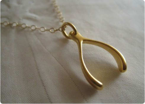 Thanksgiving Wishbone Necklace on Flee Fly Flown