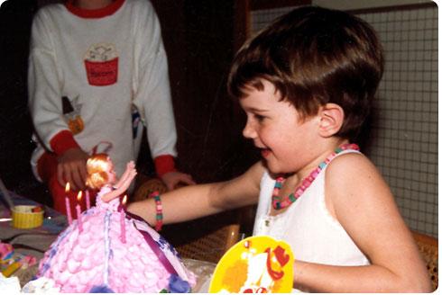 Kid birthday's were the best...