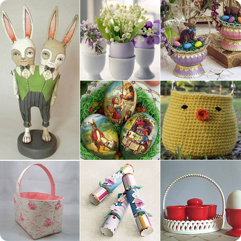 Easter Baskets and decorations on Flee Fly Flown