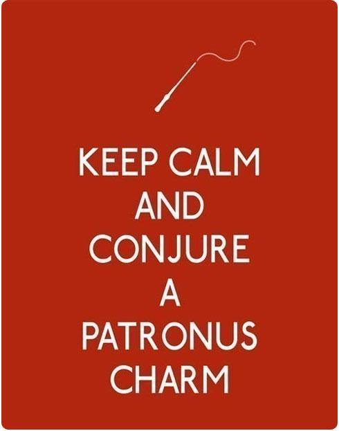 Keep Calm and Conjure a Patronus on Flee Fly Flown