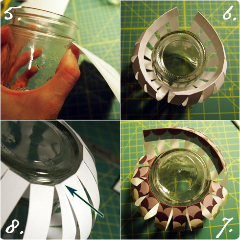 Paper Lantern DIY steps 5-8 on Flee Fly Flown