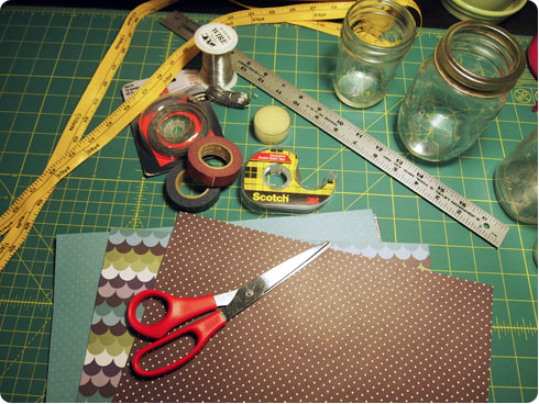 Supplies for DIY Paper Lantern on Flee Fly Flown