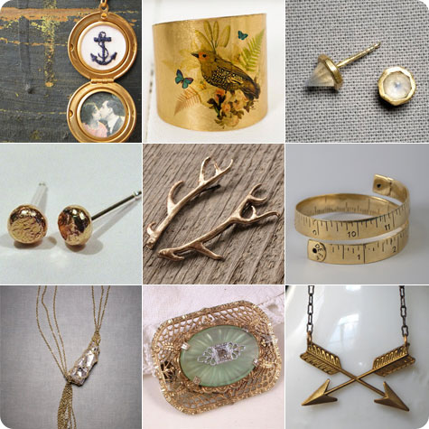 Top row left to right Vintage Navy Locket 94 Early Bird Cuff 18