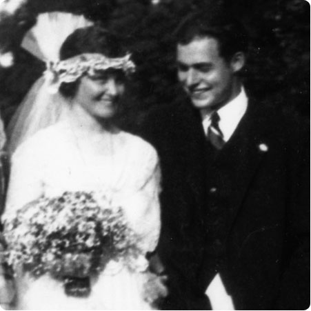 Haldey & Earnest Hemingway on their Wedding Day on Flee Fly Flown