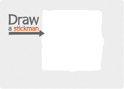 Draw a Stickman on Flee Fly Flown. Be Creative Everyday.