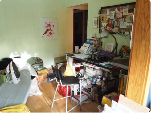 Flee Fly Flown's Studio Space that need's organizing