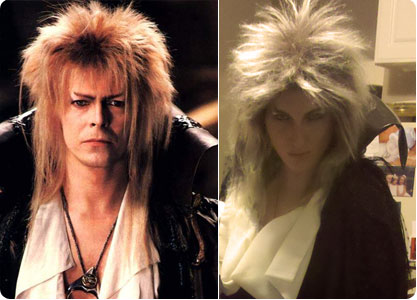 David Bowie from The Labyrinth and Flee Fly Flown as David Bowie the Goblin King