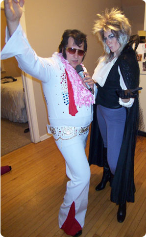Elvis and The Goblin King on Flee Fly Flown