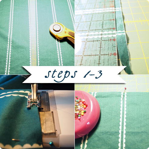 Steps 1-3 Infinity Scarf DIY Tutorial on Flee Fly Flown