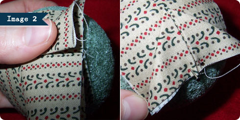No Sew Quilted Ornament Tutorial, Image 2 on Flee Fly Flown