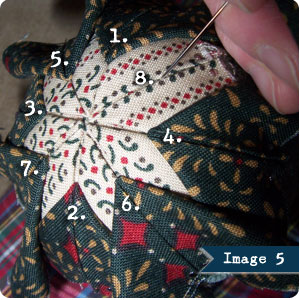No Sew Quilted Ornament Tutorial, Image 5 on Flee Fly Flown