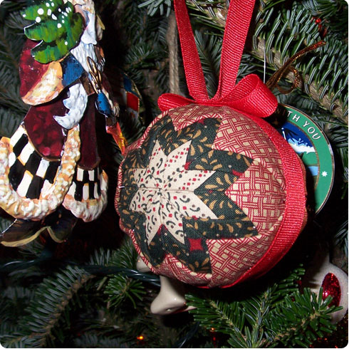 No Sew Quilted Ornament Tutorial, Image 7 on Flee Fly Flown