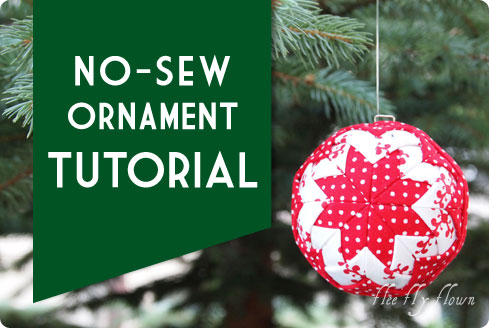 No-Sew Ornament Tutorial on Flee Fly Flown