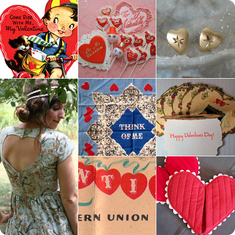 Vintage Valentines Day Inspiration on Flee Fly Flown