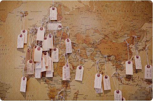 Alternative Guest Book Idea Map and Tags