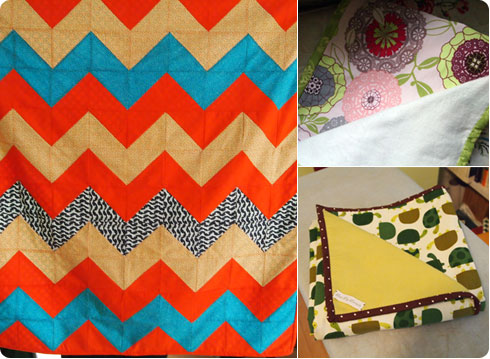 Chevron, Doily and Turtle Quilts by Colleen McIntyre of Flee Fly Flown