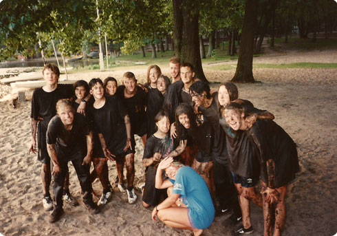 Maureen Connell   Camp Pendalouan Mud Fight Circa 1990