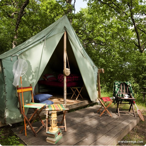 wandawega lake resort | vintage boy scout tents