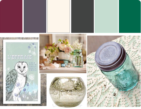 Wedding Color Palette & Inspiration by Flee Fly Flown