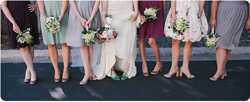Photo by Bryan and Mae | Bridesmaid Shoe and Dress Inspiration