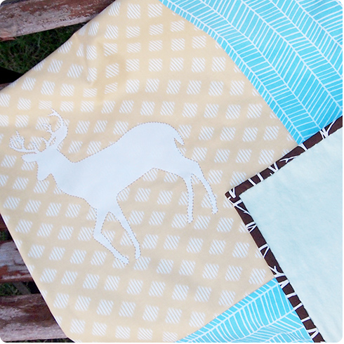 Deer Baby Blanket by Flee Fly Flown
