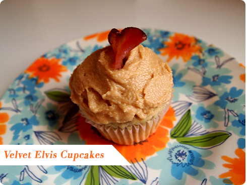 Velvet Elvis Cupcake on Flee Fly Flown