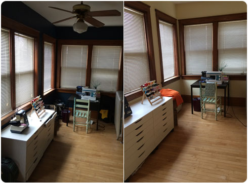 Flee Fly Flown Before & After Sunroom Painiting