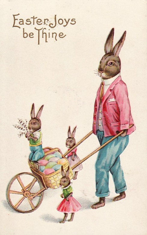 Vintage Easter Bunny Postcard from 1915