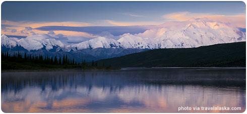 Alaska Mount McKinley via TravelAlaska.com