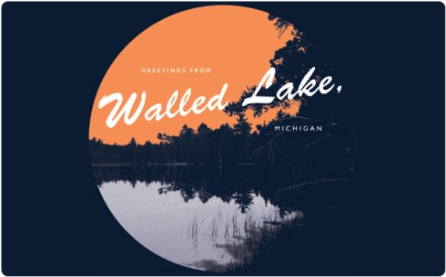 Greetings from Walled Lake, Michigan by Flee Fly Flown